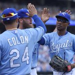 Royals rally for 3 runs in 8th inning to beat As, 4-2. Kansas City takes 2 of 3 from Oakland in chippy series. http://t.co/FKlcPNZDfN