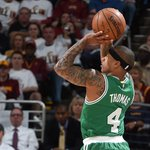 Game 1 goes to the Cavs, as they win 113-100. Isaiah Thomas logged his first dbl-dbl with the Cs w/ 22 pts, 10 asts. http://t.co/5PJ57lAkST