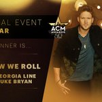 """ACM WINNER: Vocal Event of the Year - """"This Is How We Roll"""" - @FLAGALine feat. @LukeBryanOnline #ACMawards50 http://t.co/dK2Rx7YmTa"""