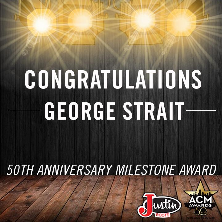 He's the King of Country for a reason. Congratulations on the milestone award, @GeorgeStrait! #ACMawards50 #ACMawards http://t.co/Oxd3sysVxs