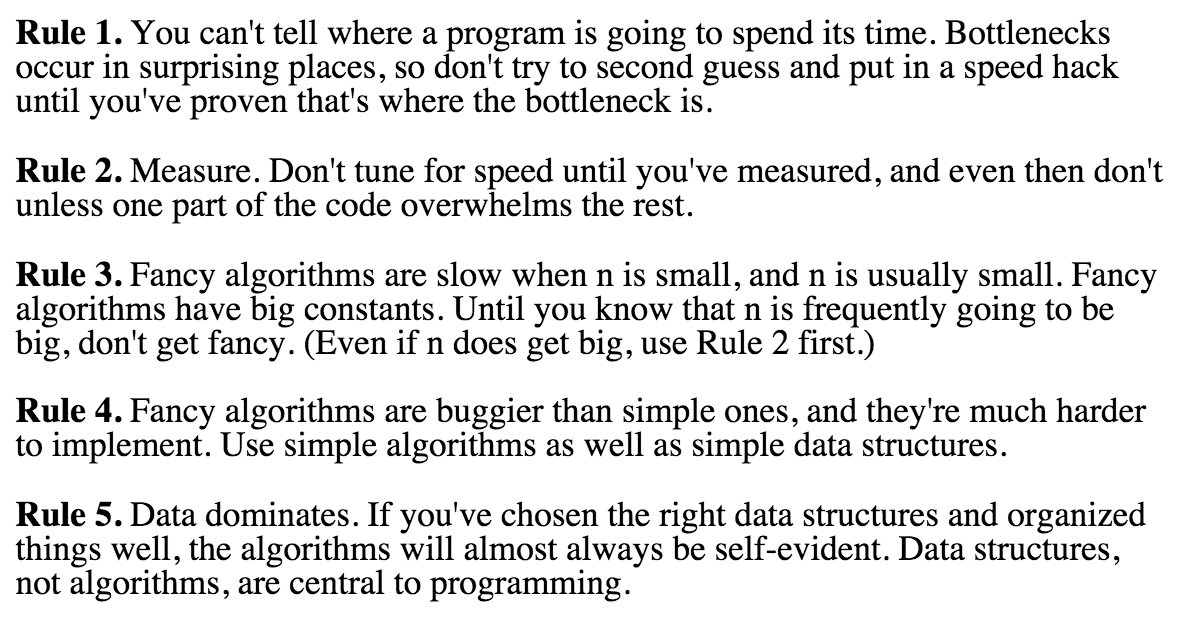 hard won programming wisdom, courtesy of @rob_pike... http://t.co/OmbCi8YR6P