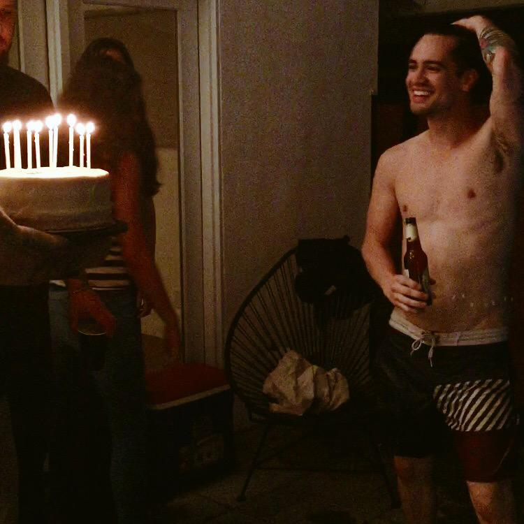 Happy birthday to my mega studly husband! 28 years old and doing back flips off the roof.
