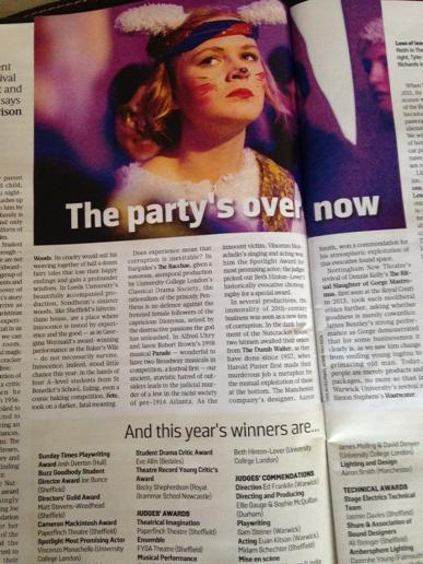 Thank you to Robert Hewison for great review of #festival2015 in Culture Magazine @SundayTimesNews http://t.co/nq8hiQEJxT