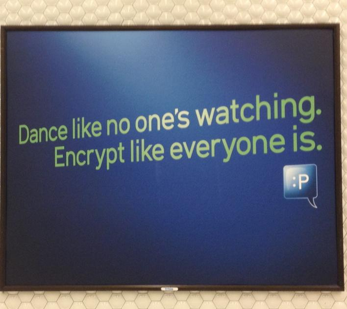 Ha! Awesome! #encryption #morecrypto RT @KevinBankston: Words to live by. http://t.co/7emBRPnUa2