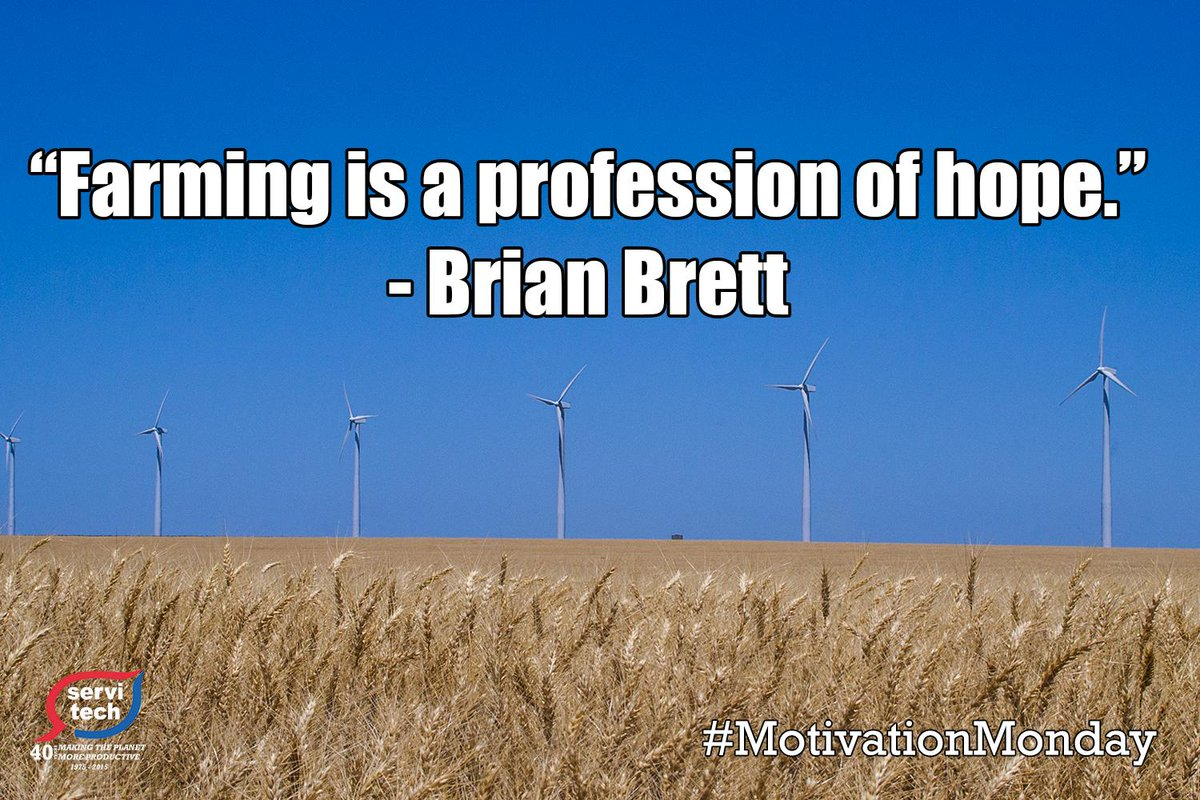 """Farming is a profession of hope."" - Brian Brett #MOTIVATIONMONDAY http://t.co/QbWGVJLKfN"