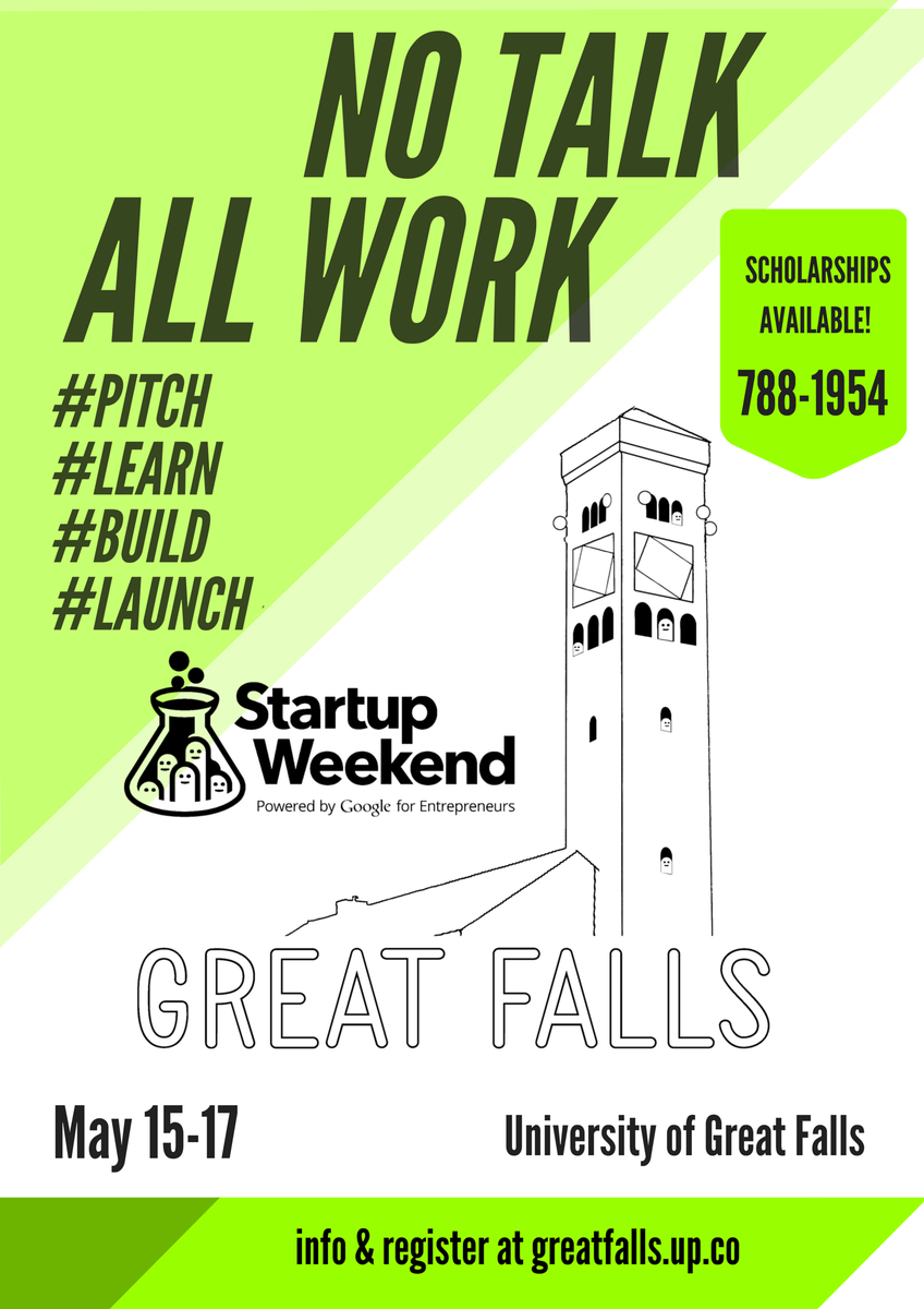 Startup Weekend Great Falls - May 15-17, University of Great Falls - Register http://t.co/zMKbdpmzsa #SWGreatFalls http://t.co/0KGz0O8OB6