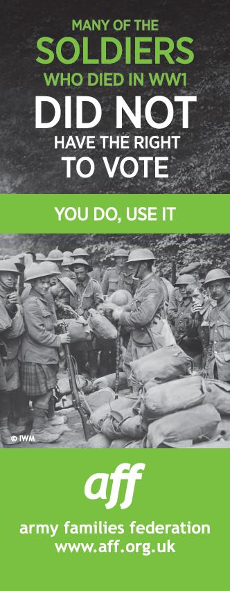 Many of the soldiers who died in WW1 did not have the right to vote, you do, use it #useyourvote #ELECTION2015 http://t.co/tmZONT6Lvl
