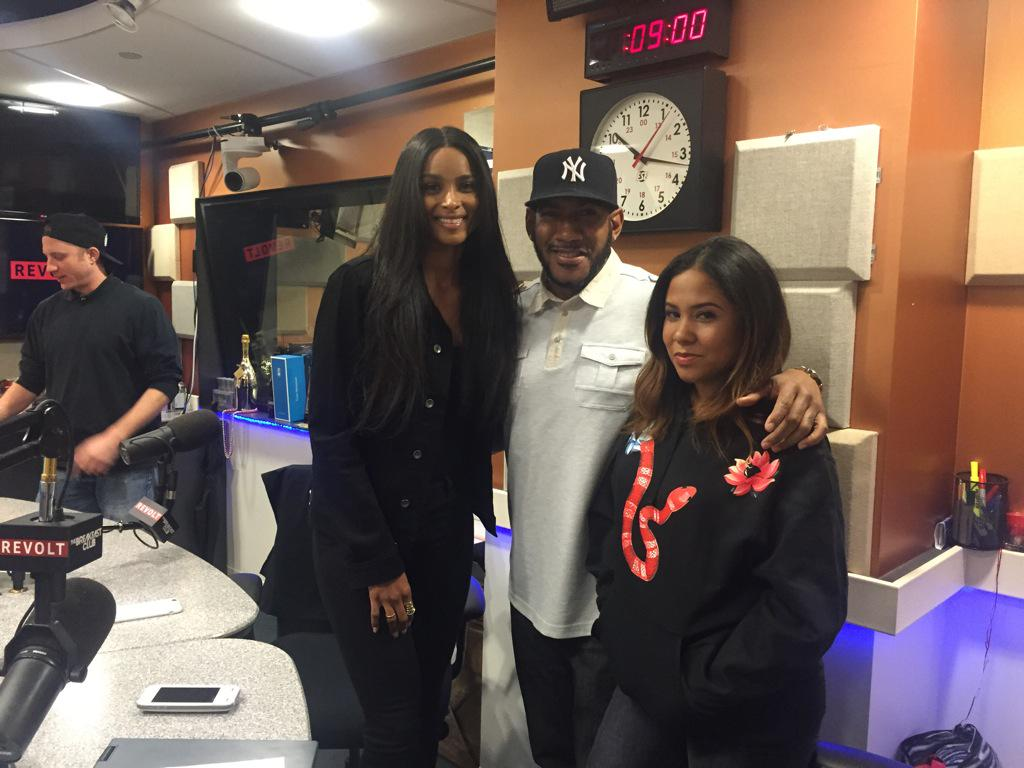 This morning with the lovely ladies @ciara & @angelayee Lookout for Ciara's new album #Jackie  #NeverstopNeversettle http://t.co/NnKp2HTC5l