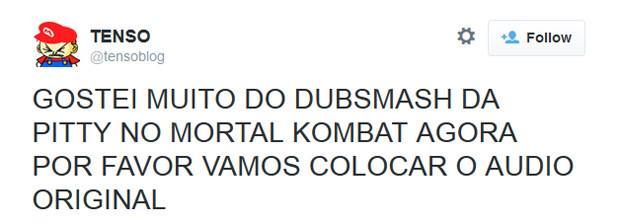 Fãs reclamam de dublagem de Pitty em 'Mortal Kombat X' http://t.co/mXNRAtEKaR #G1 http://t.co/TzORuga8w4