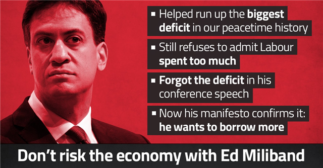 Sir Eric Pickles (@EricPickles): Don't risk the economy with Ed Miliband and #SameOldLabour: http://t.co/MIVAJQllSY http://t.co/5ALEx1bMko