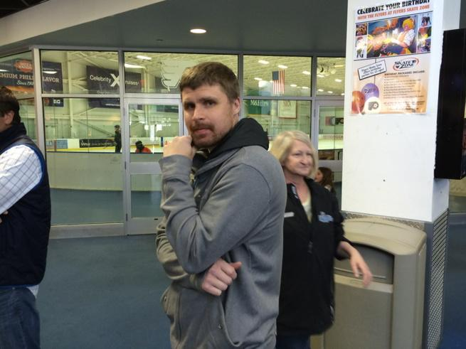 "I just asked Bryz if he was interested in Flyers G coaching job. ""I'm available. I'm free."" http://t.co/uwuohJ8jcu"