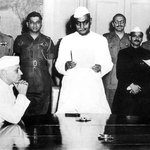 RT @Inshal07: Babasaheb Dr. BR #Ambedkar  being sworn in as independent India's first law minister. #AmbedkarJayanti