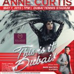 RT @DZOOOMcom: Dubai This is it! Catch @annecurtissmith LIVE! this coming May 7 http://t.co/I1LpOQ3fU3 #Dubai #UAE #dzooomevents
