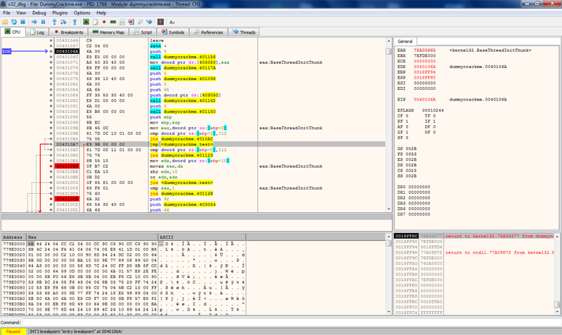 Ollydbg is a 32-bit code level debugger for microsoft(r) windows(r) ollydbg is a