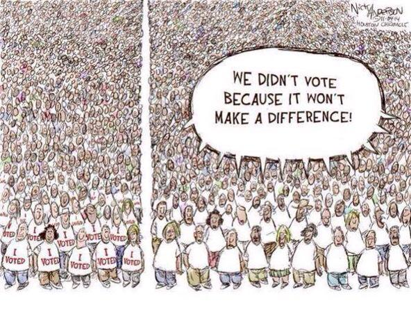 Votes in 2010 general election - 10.7m Tories - 8.6m Labour - 6.8m LibDems  - 15.9m NON VOTERS. We gotta change this! http://t.co/O2a0wkeNiR