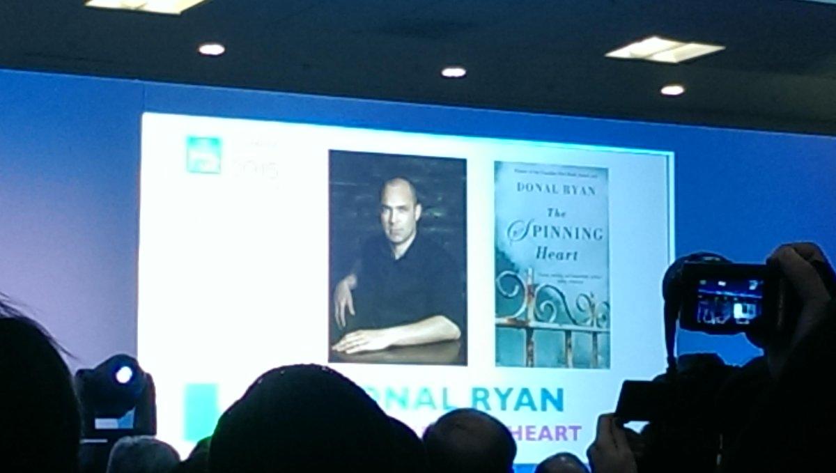 Donal Ryan is the Irish Winner of European Prize for Literature!!! #LondonBookFair http://t.co/EBTgydMzBm