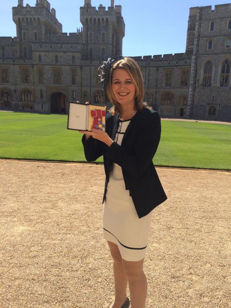 Honoured to of received my CBE from the Queen today at Windsor Castle. #special http://t.co/LLggj3L1XZ