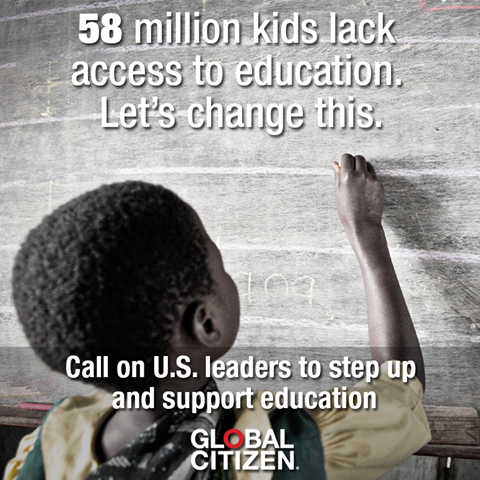 58M kids worldwide lack access to education. That's why we're advocating for education at #GlobalCitizenEarthDay http://t.co/SLrdLFFypf