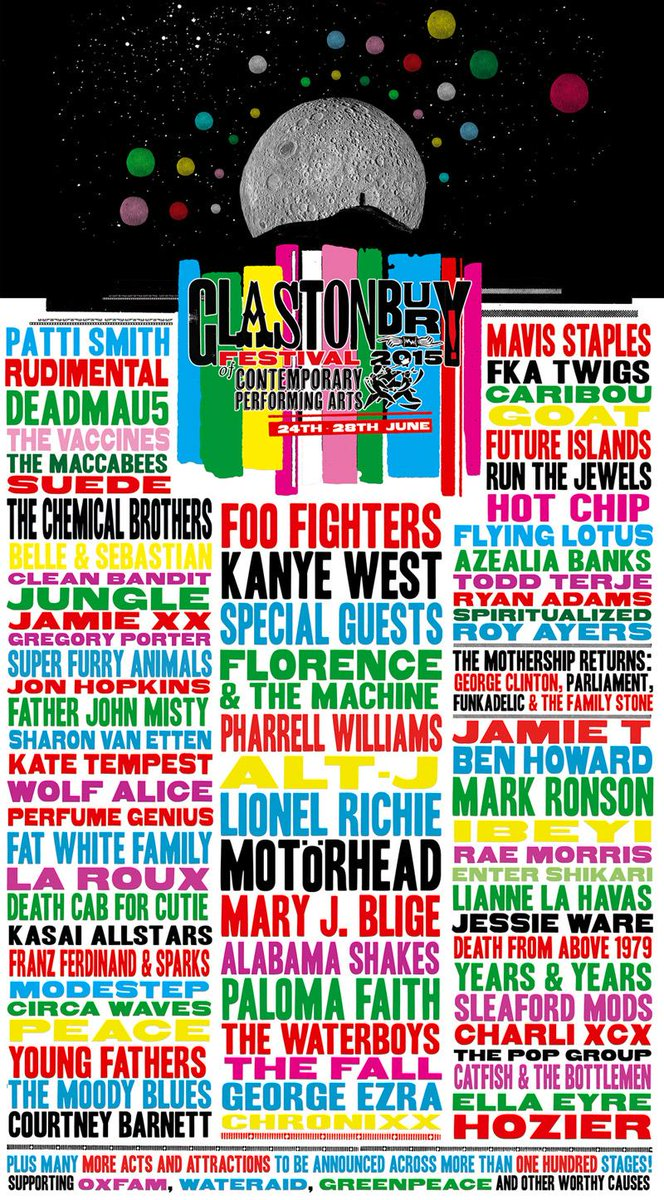 Here is our first line-up announcement for Glastonbury Festival 2015 http://t.co/3cDqjtPXJg