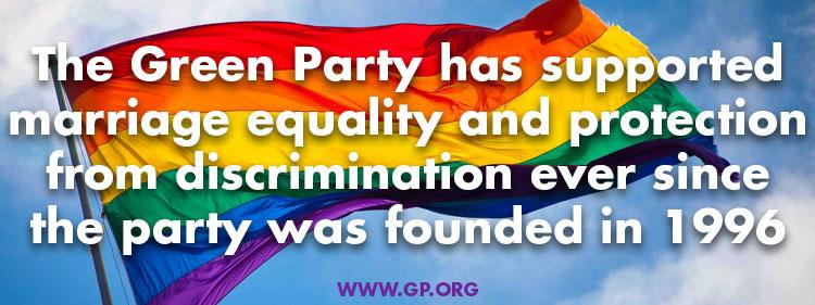 Green party national lgbt anti bias law needed to strengthen marriage