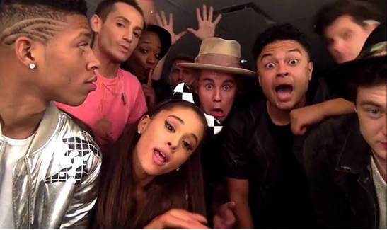 The crew got together to get nutty for @carlyraejepsen! @justinbieber @ArianaGrande! http://t.co/eMmMLp55sd http://t.co/tEHO0THb5q