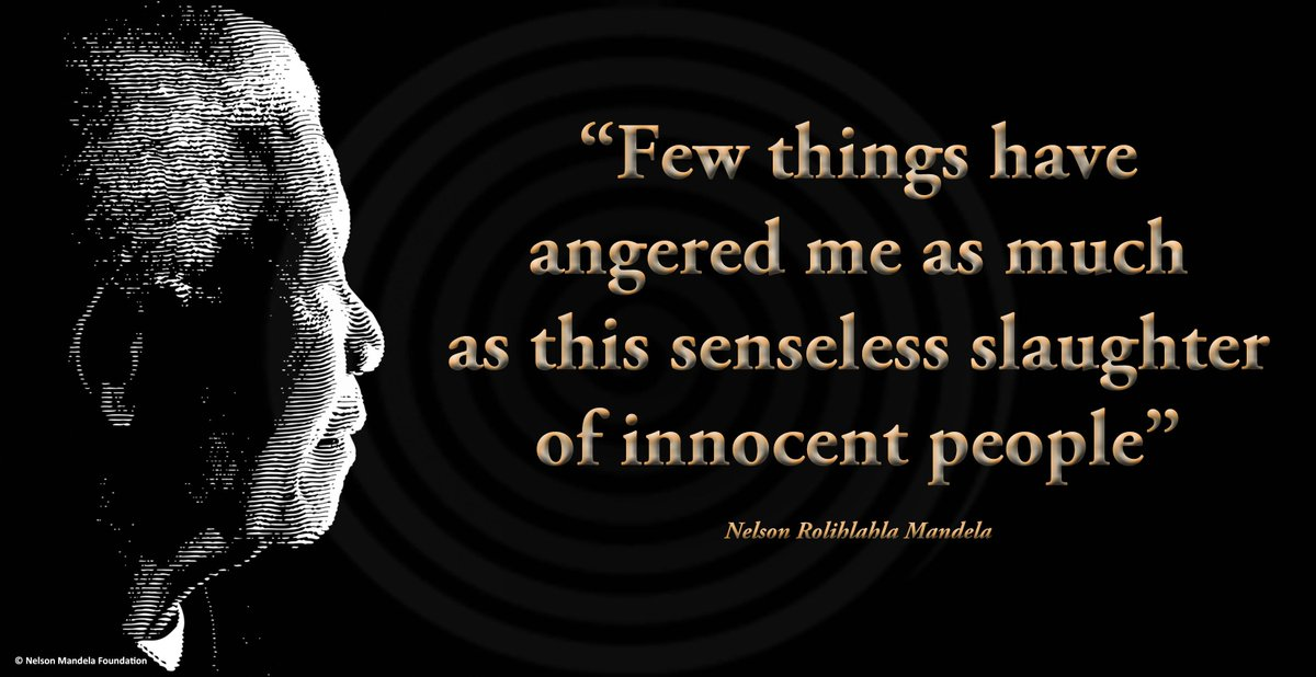 """Few things have angered me as much as this senseless slaughter of innocent people"" #NelsonMandela #SayNoToXenophobia http://t.co/zlzIa3wHLC"