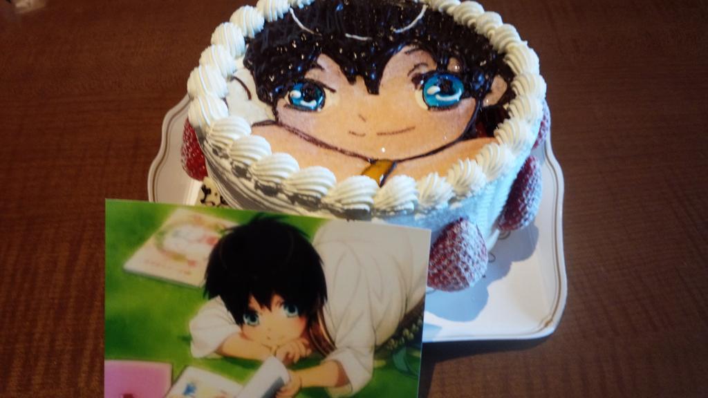 お誕生日サプライズ‹‹\(´ω` )/››‹‹\(  ´)/›› ‹‹\( ´ω`)/››ショタセシルのケーキをご用意してくれたよ!!!! http://t.co/BqYPuQtYfZ