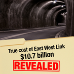 #EWLink would have cost $10.7b – not $6.8b as publicly indicated by the previous Liberal Government. #springst http://t.co/ZT4x9syUUL