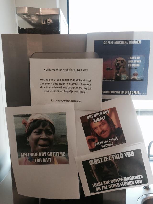Coffee Maker Broke Meme : Adnan Hendricks @Microspecialist Klear