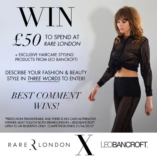 Rare London On Twitter Compeion Describe Your Fashion Beauty Style In Three Words Win 50 For Rarelondon Leobancroft Goos