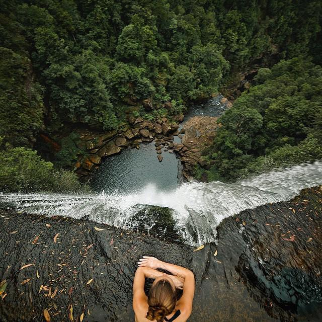 Living on the edge at Belmore Falls, New South Wales, Australia.