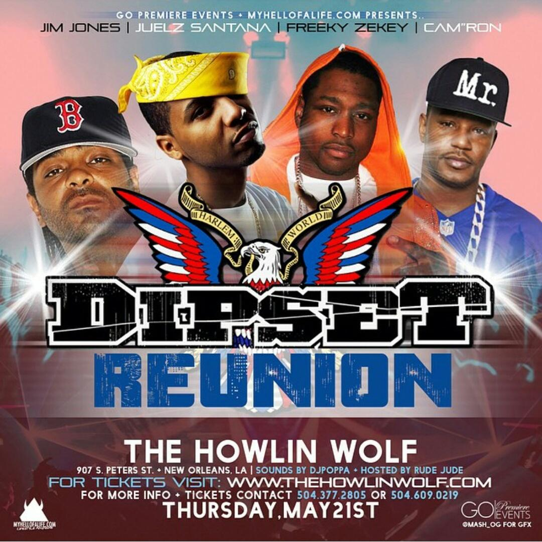 Aye.... Dipset Reunion #HowlinWolf. If you care spread the word and RT, if you don't keep scrollin. http://t.co/rJ1A8iEcW0