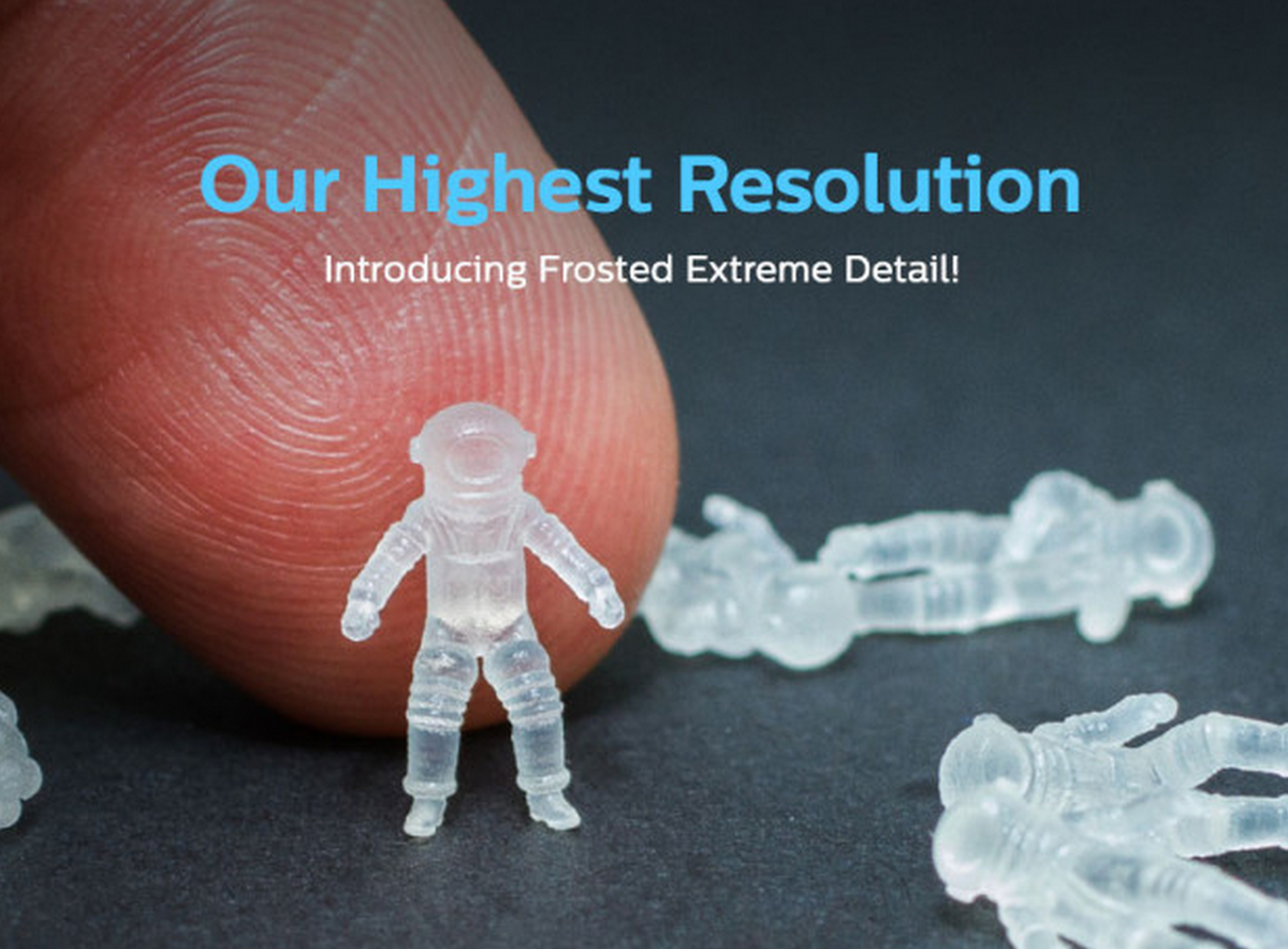 Announcing Frosted Extreme Detail (or FXD), our highest resolution 3D printed plastic ever: http://t.co/JDZURIAsA1 http://t.co/bvfDifFtXv