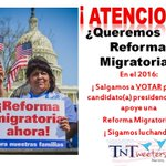 #TNTweeters #AINF   #latinos #Hispanos  ¿Queremos una #reformamigratoria ? NO @marcorubio NO @SenTedCruz NO @GOP ! http://t.co/uZqUeYIr2G