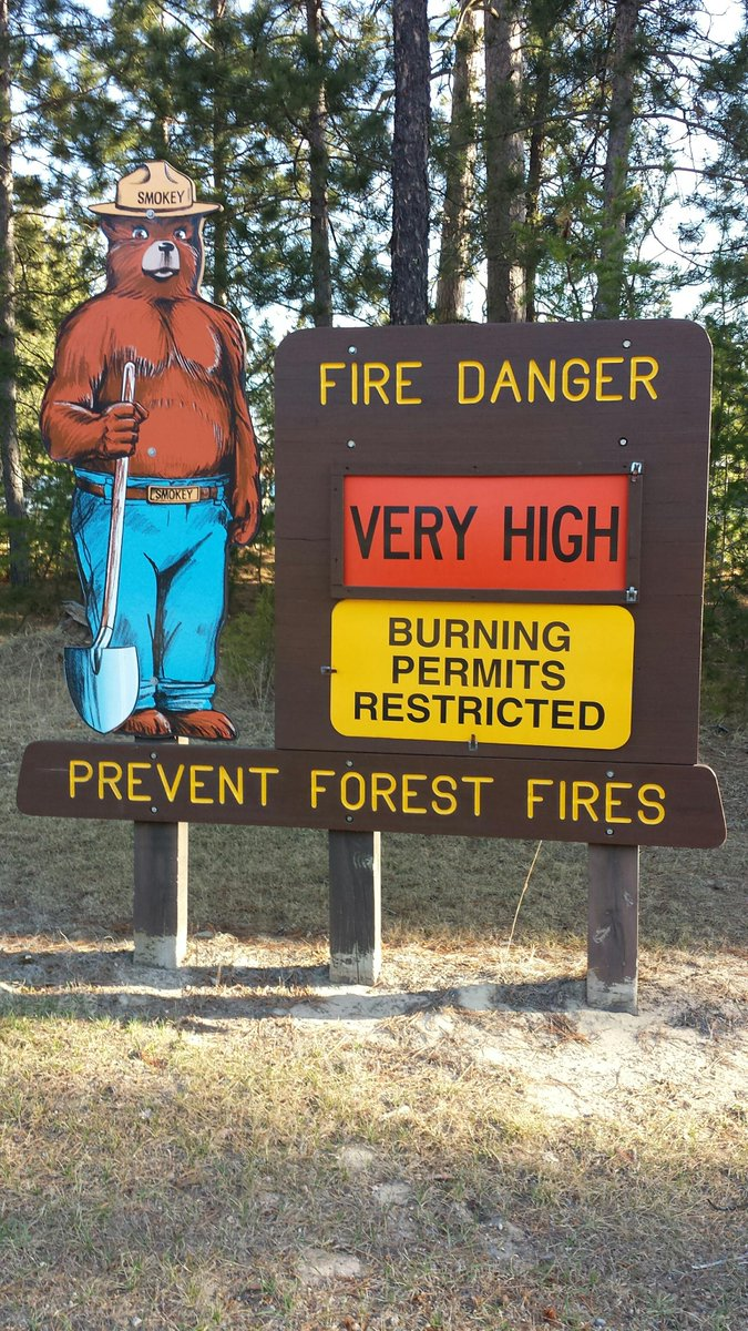 High fire danger persists throughout MN. Check conditions and burning restrictions daily at http://t.co/FtxFuFXMpm http://t.co/cc3tUNyejX