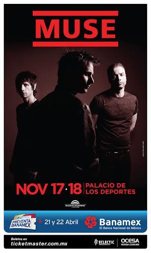 #OcesaRockPresenta @muse en México, Noviembre 17 y 18, @ElPalacioMx Preventa Banamex 21 y 22 de abril #MuseDronesMx http://t.co/OtHE1cM4io