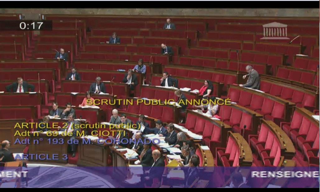Y a foule pour voter la fin de notre vie privée dis donc. #PJLRenseignement http://t.co/js0raBH7ON