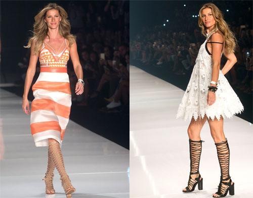 Model Gisele Bundchen (@giseleofficial) walks her final show at #SaoPauloFashionWeek http://t.co/AuDDEBW7qE