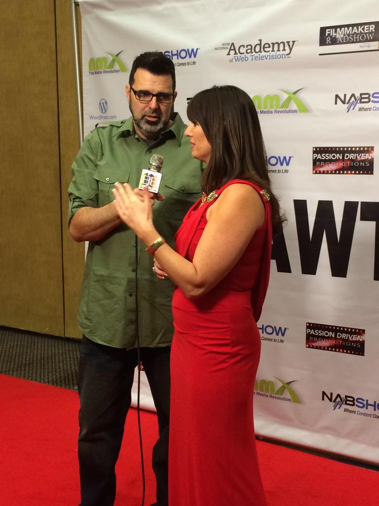 Here's @CoachDeb live on the Red Carpet of #IAWTVAwards with @BroadcastBeat http://t.co/KEdzBNJqWA