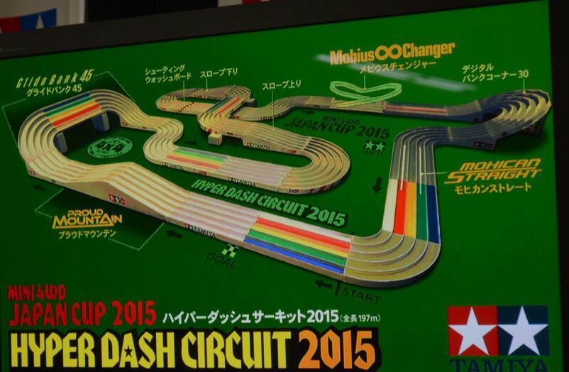 そしてこれがハイパーダッシュサーキット2015の全貌だっ! #mini4wd http://t.co/EZOmLNlIig
