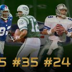 45. Strahan 35. Namath  The #15 #NFLDraft pick of All-Time? He once scored SIX TDs in a game: http://t.co/BMqE9DfzYF