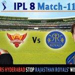 RT @raagadotcom: RT & tell us whether it will be #SRH or #RR  #SRHvRR #RRvSRH  #SRHvsRR #RRvsSRH #IPL #IPL2015 #IPL8 http://t.co/oveVu41gQ6
