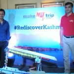 At an event organised by @makemytrip for the promotion of tourism in J&K during this season. Well done team #MMT :)