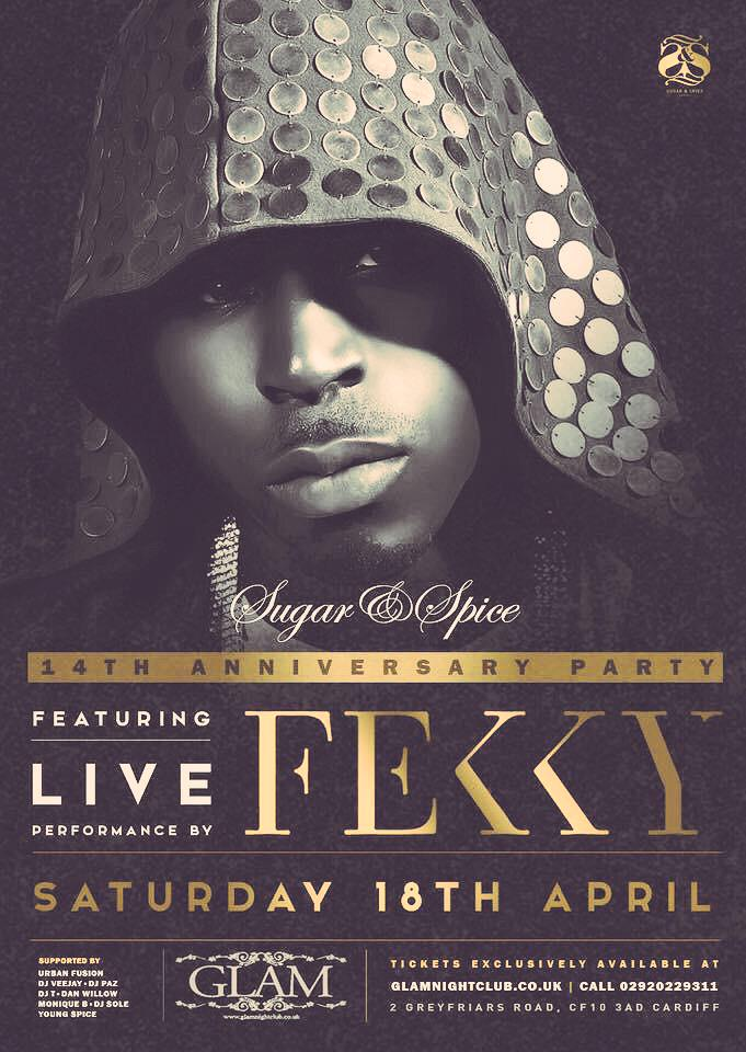 @FekkyOfficial live in @GlamNightclub this sat get in touch for tickets!!