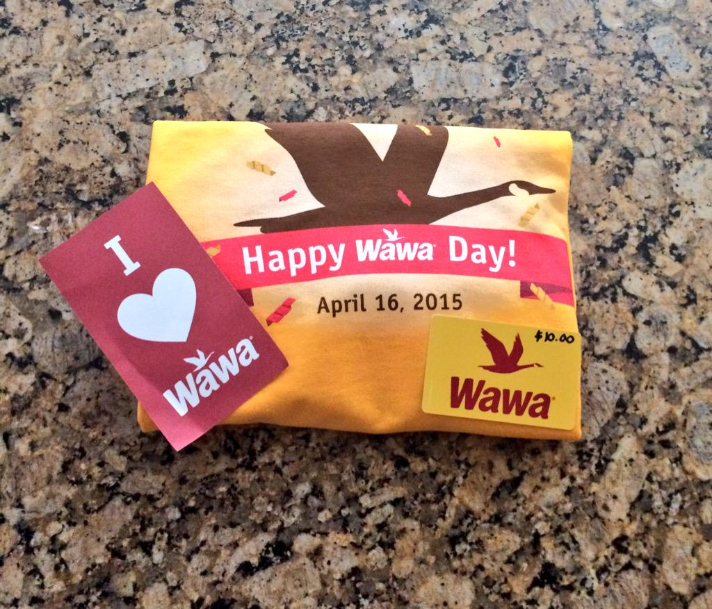Alert, alert! Today is @Wawa Day! Free coffee for all :) Thanks for the goodies, #Wawa! http://t.co/BJ3UR2kDd8