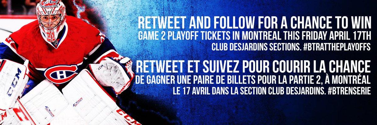 Gagnez des #Billets pour la Partie de Vendredi #NHLPLayoffs à #MTL #SensvsHabs. RT et Suivez pour Gagner #BTRENSERIE http://t.co/dhw8qSVeOF