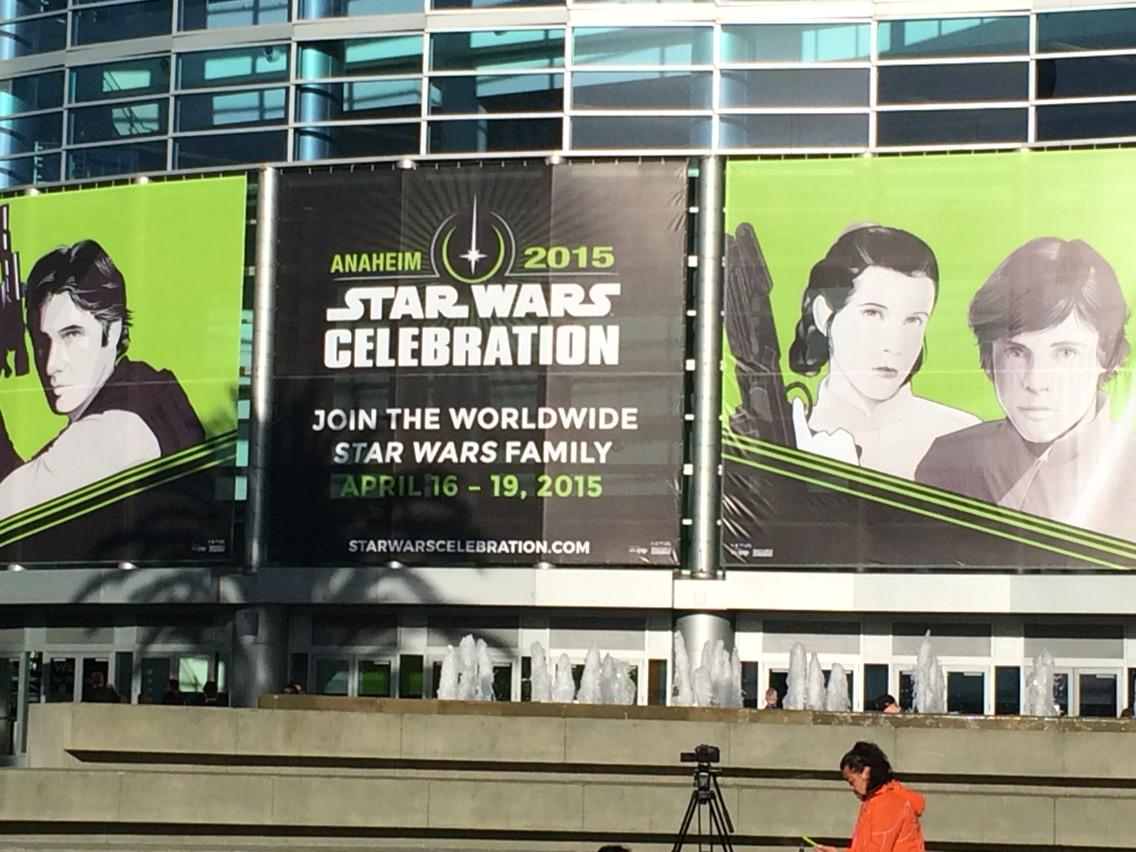 "The Faithful are assembling. @StarWars Celebration in Anaheim  this morning. JJ Abrams talking about ""Episode 7"" http://t.co/TpBcEKExD3"