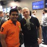 Nice to meet Mr.Jordan Rudess the legendary Keyboardist  at the Frankfurt music messe.