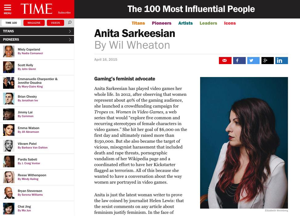 We are thrilled to welcome @femfreq to @WordPressVIP—and congrats on your @Time 100 honor! http://t.co/ckHwrnliyc http://t.co/9laUcZafvj