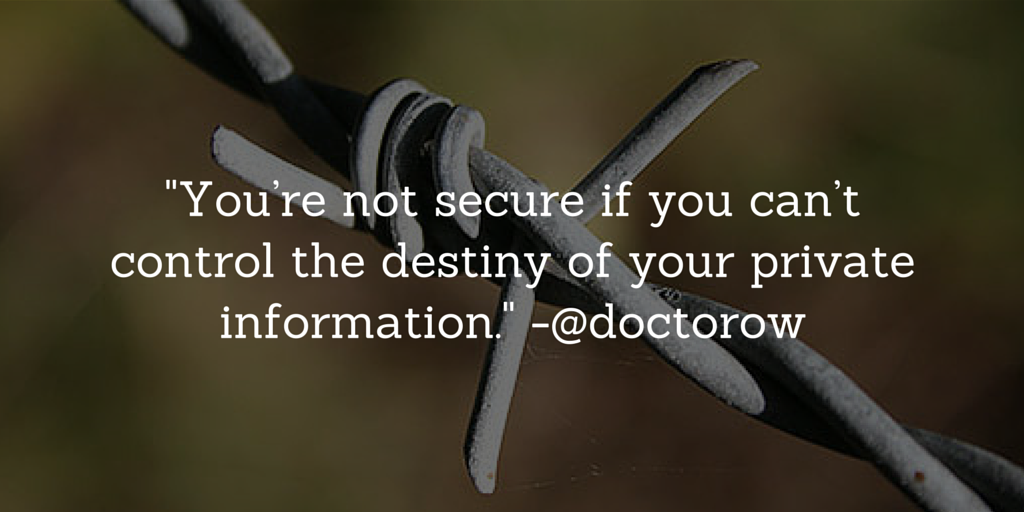 An Internet of Things that do what they're told http://t.co/Fd2kpDRrus @doctorow on security in the IoT http://t.co/H2BOQ86t2s